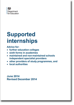 Supported internships and benefits