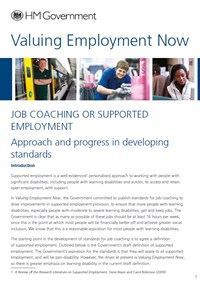 Job Coaching or Supported Employment