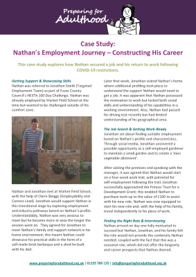 Case Study: Nathan's Employment Journey