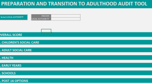 Preparation for and Transition to Adulthood Audit Tool