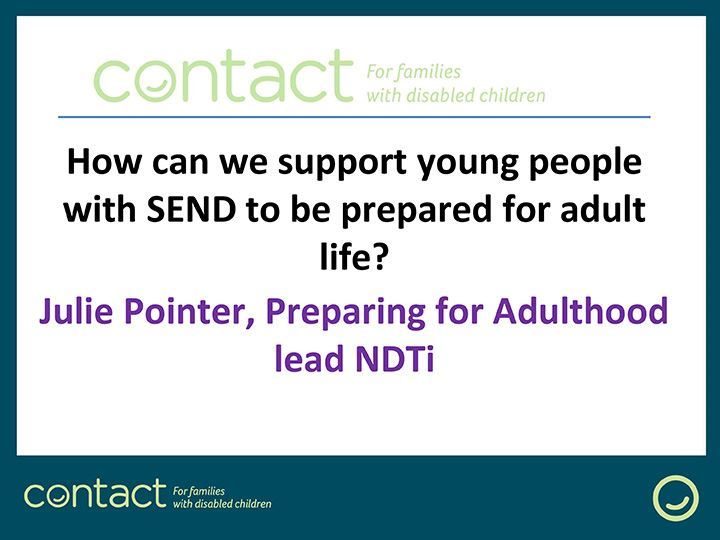 Parent Carer Webinar: How can we support young people with SEND to be prepared for adult life?