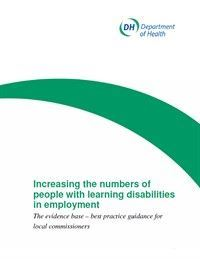 Increasing the numbers of people with learning disabilities in employment