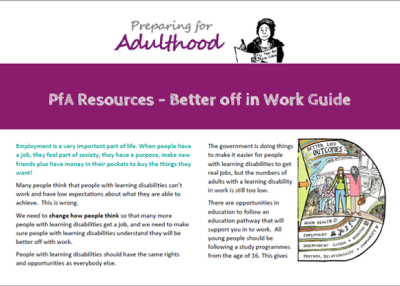 PfA Resources – Better off in Work Guide