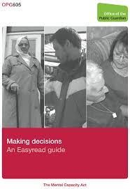 Making decisions: An Easy read guide