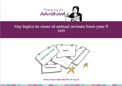 Key Topics to cover at annual reviews from year 9 2019